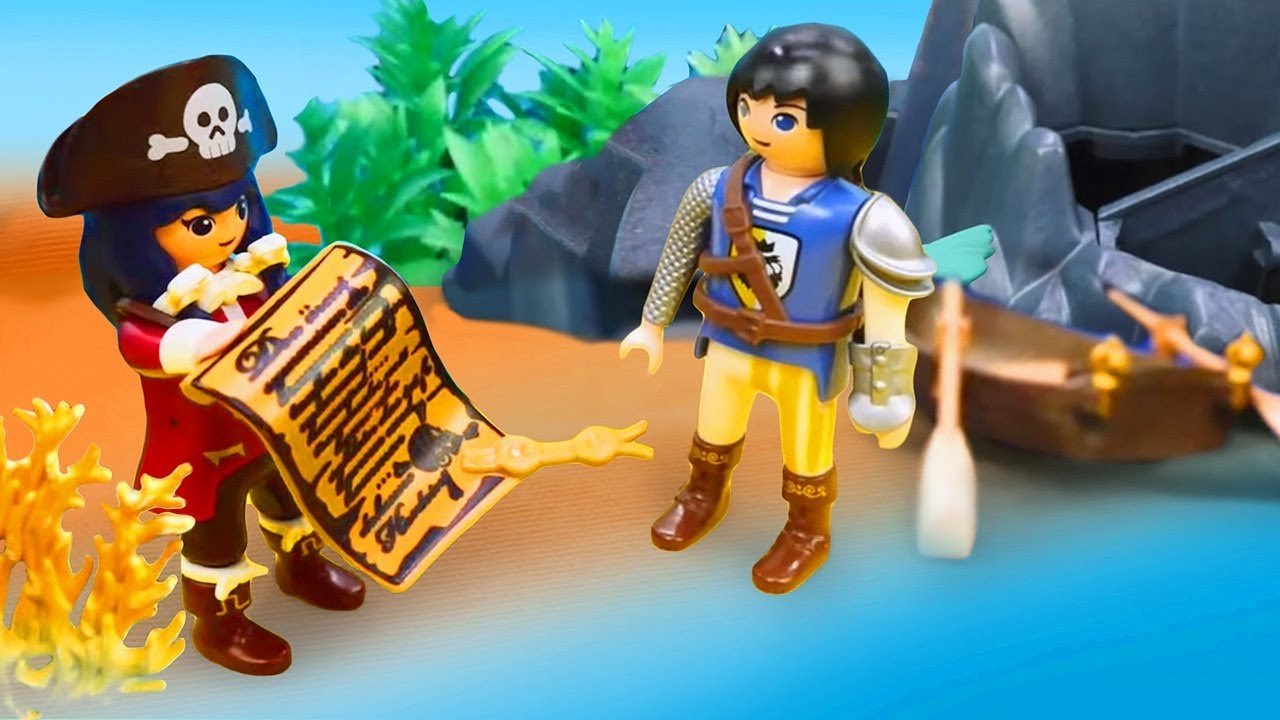 Toys' adventures for kids - Super 4 rescue team looks for treasure.