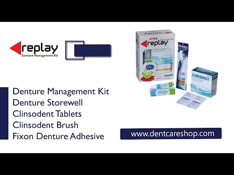 ICPA Replay Denture Cleaning Kit with Storage Container and Adhesive from dentcareshop.com
