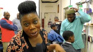 The Nigerian Dancing Barber-Shop in London