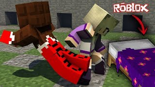 NOUS ROB ALL THE DIAMONDS IN BEDWARS WITH LYNA BEDWARS MINECRAFT dans ROBLOX 👍🔥🔥