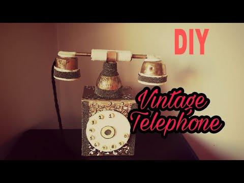 DIY - Room Decor Vintage Telephone/ Secret Storage Box