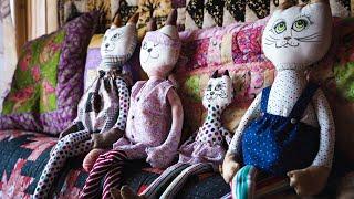 Лоскутная история кошки (шьём игрушку своими руками) | quilt | patchwork | 4K фильм