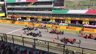 FORMULA UNO partenza del Gran Premio al Mugello Circuit