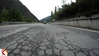 Trams en moto, N-145, cruïlla crta. Civís - La Farga de Moles 001