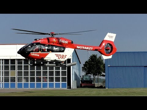 [HD] *NEW*H145 ,Offshore version ,Air Ambulance 02 in EDCG Güttin Airfield