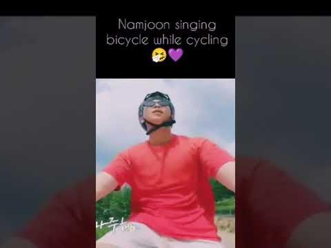 namjoon singing bicycle while cycling 🤧💜 thumbnail