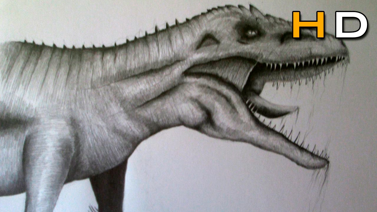 How to Draw a Realistic Dinosaur With Pencil Step by Step ...