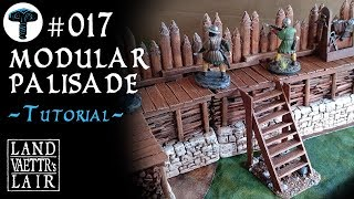Crafting Modular Palisade for Tabletop RPG (tutorial)
