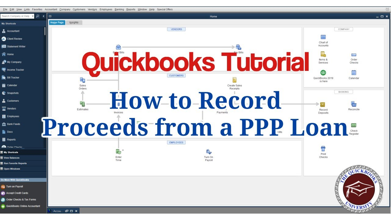 Quickbooks Tutorial - How to Record Proceeds from a PPP ...