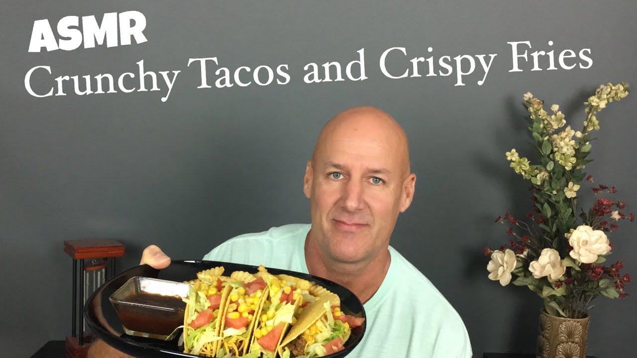 Asmr Homemade Tacos And Crispy French Fries Eating Sounds Soft Spoken