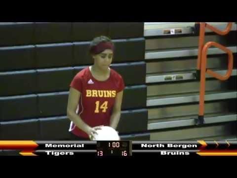 MHS Girls Volleyball vs North Bergen 9/14/16