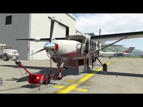 X-Plane 11: Samedan nach Locarno