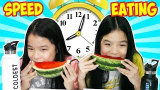 SPEED EATING CHALLENGE! | Tran Twins