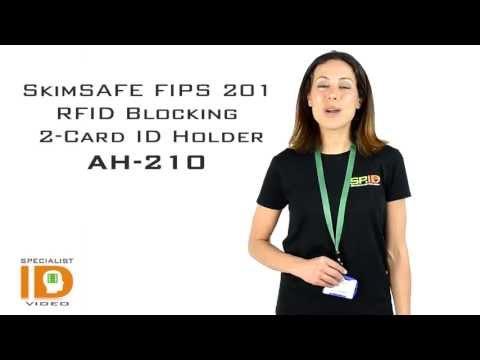 SkimSAFE FIPS 201 RFID Blocking 2-Card ID Badge Holder AH 210 by Specialist ID