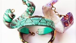 How to Add Findings to Polymer Clay Cuff Bracelets