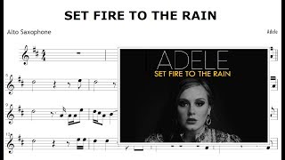 Set Fire To The Rain - Adele (Alto Saxophone Sheet Music)