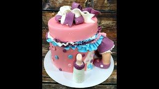 Оформление торта ( оформление торта, обтяжка и т.д.) подробный урок