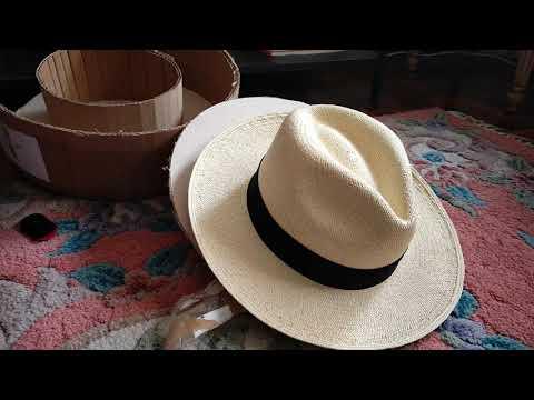 Unboxing a Montecristi Panama Hat from PanamaHatsDirect.com