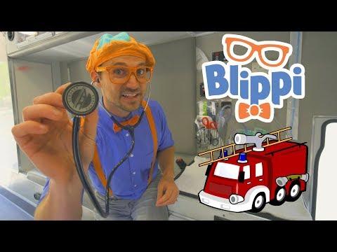 Blippi Fire Trucks for Toddlers | 1 Hour Educational Videos for Children