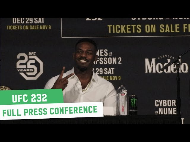 UFC 232: Full Press Conference ft. Jon Jones, Alexander Gustafsson, Cris Cyborg & Amanda Nunes