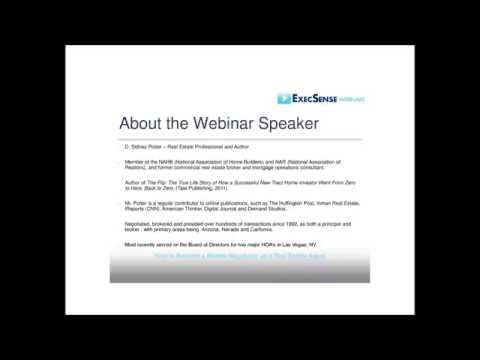 D. Sidney Potter / Real Estate Webinar