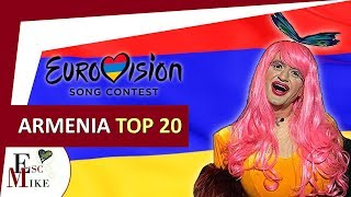 Eurovision Armenia 2018 [Depi Evratesil] - My Top 20 [With RATING]