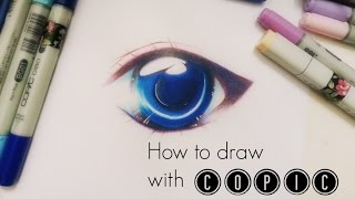 TUTORIAL: Simple soft shading effect on Manga Eye || COPIC & Colored Pencil