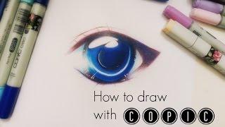 How to draw: Simple Manga/Anime eye with COPIC