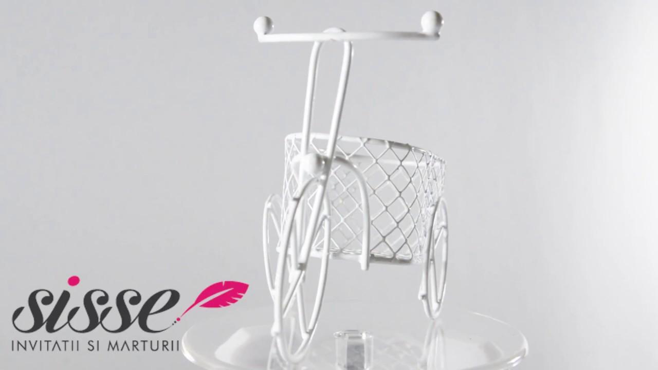 Marturie Nunta Bicicleta Din Sarma Cu Cos Oval Marturie Nunta Youtube