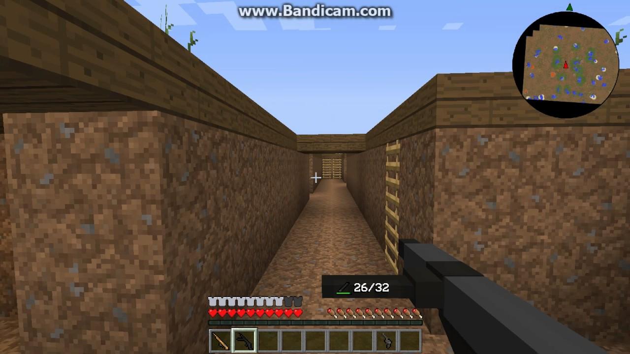 Minecraft World War Trench Battle Flans Mod YouTube - Minecraft maps fur flans mod