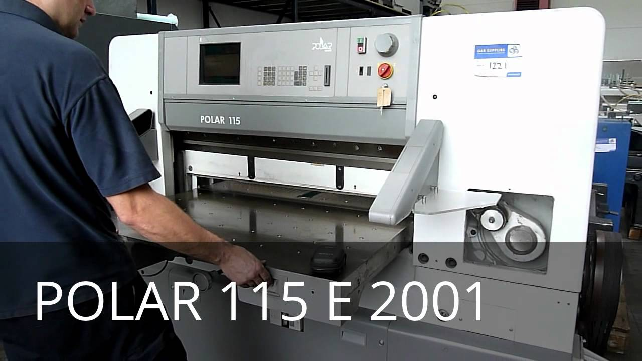 polar 115 e guillotine youtube rh youtube com Polar 115 EMC Paper Cutting Machine Automatic