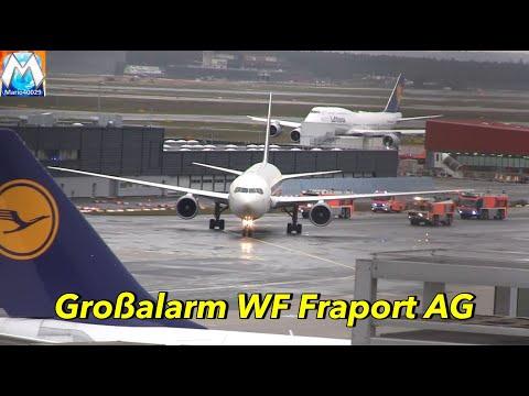 [Sicherheitslandung] Großeinsatz Flughafenfeuerwehr Frankfurt