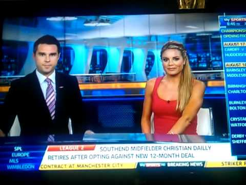 sky sports news presenter coughs on air