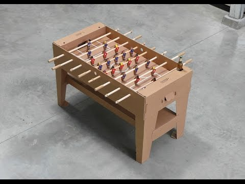 How To Make A Foosball Table Game Fun And Easy YouTube