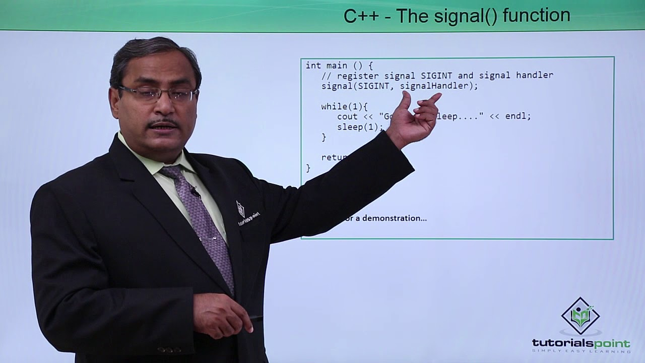 C the signal function youtube c the signal function tutorials point baditri Choice Image