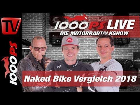 1000PS Live - Die Motorradtalkshow - Naked Bike Vergleich 2018 - Teil 1 von 7