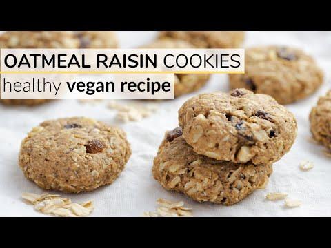 OATMEAL RAISIN COOKIES | healthy, vegan recipe
