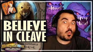 PUT YOUR FAITH IN THE CLEAVE! - Hearthstone Battlegrounds