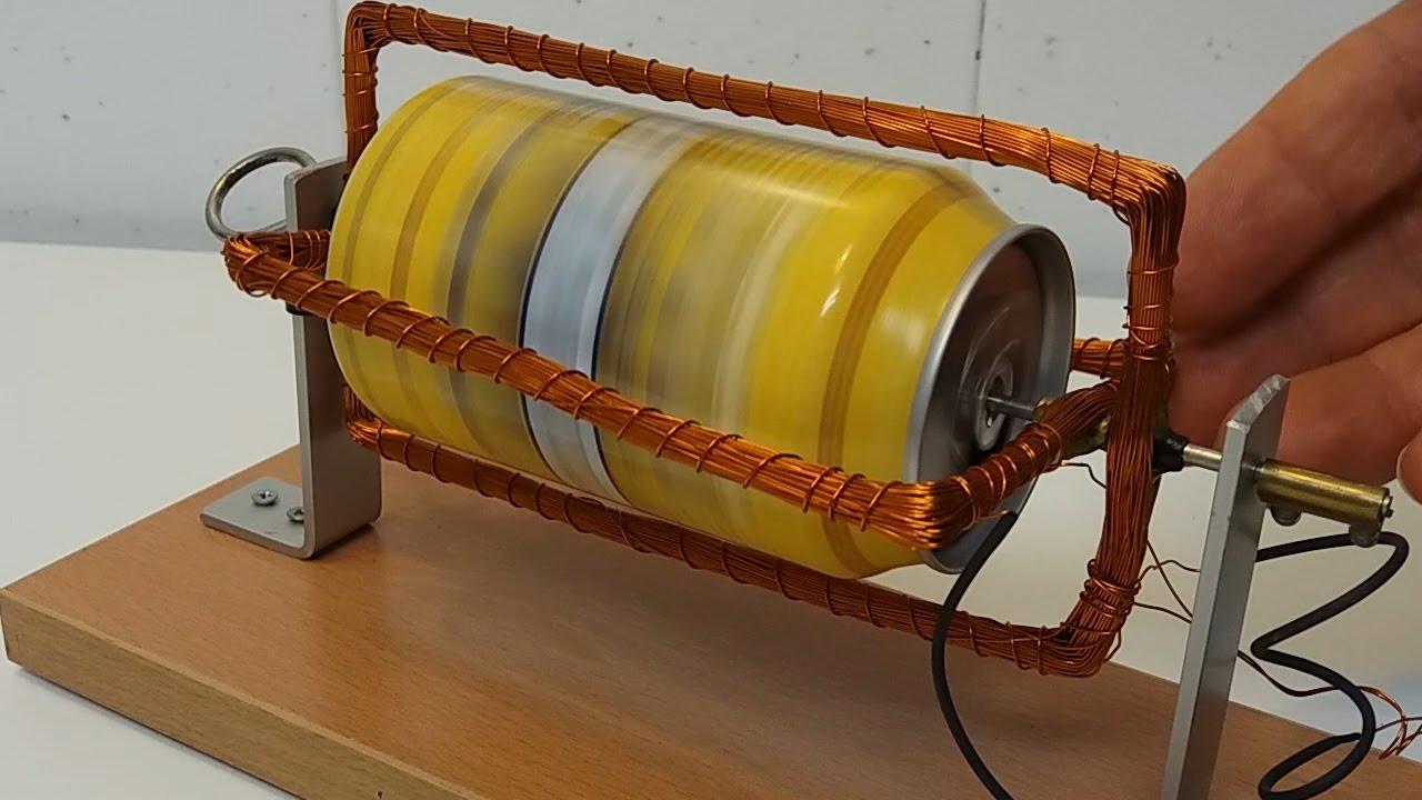 d4a8ac73edd Motor de inducción construido con una lata de refresco. - YouTube