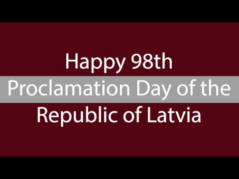 Happy 98th Proclamation Day of the Republic of Latvia!