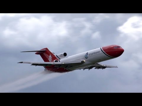 Oil Spill Response Boeing 727 Sprays Farnborough Airshow – AINtv Express