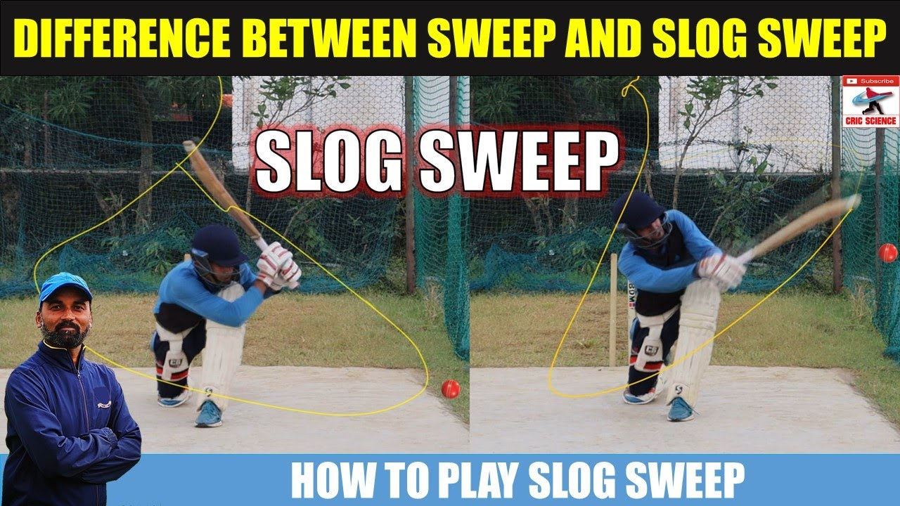 How to Play Slog Sweep Shot | Difference Between Sweep and Slog Sweep |  Cricket Batting Tips
