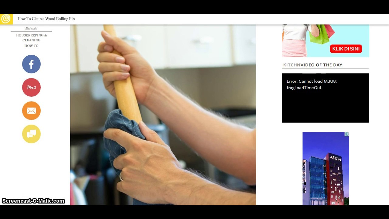 New 2017 How To Clean A Wood Rolling Pin Youtube