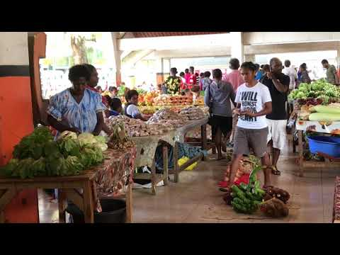 Walking Around Port Vila In Vanuatu