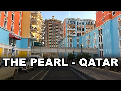 The Pearl, Qatar 4K - Driving in artificial island