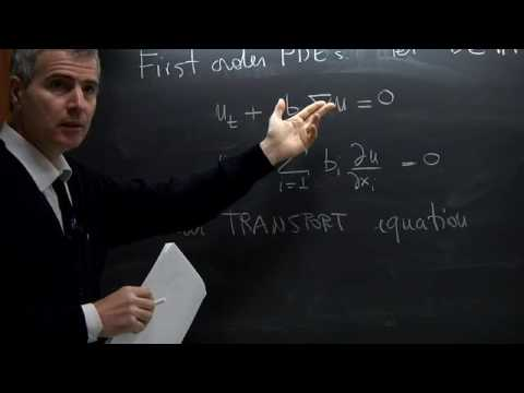 Partial Differential Equations - Giovanni Bellettini - Lecture 01