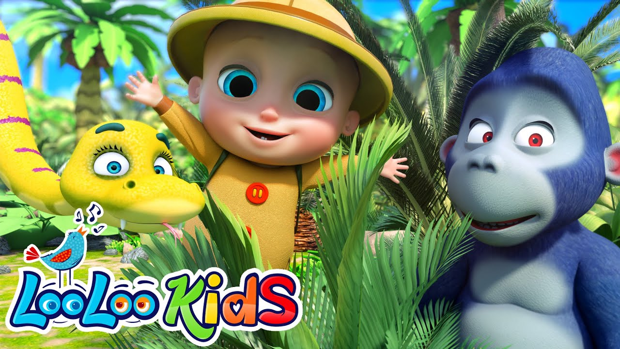 Down in The Jungle - Educational Songs for Children | LooLoo Kids