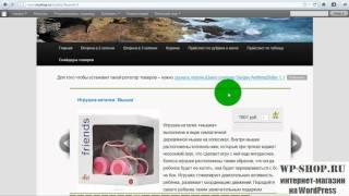 Создание интернет магазина на WordPress(Внимание! Этот ролик про устаревшую версию! Смотрите новую серию видеоуроков на нашем канале! http://www.youtube.com/p..., 2011-11-27T18:56:37.000Z)