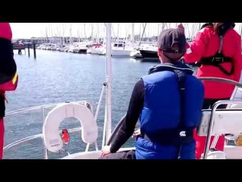 Landing an X-Yacht X442 Sailing Yacht stern ahead