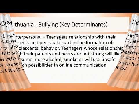 Lithuania: Bullying as Health Risk Among Adolescents